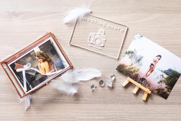 Photographe book photo - Offre avec boîte en verre et clé USB de luxe